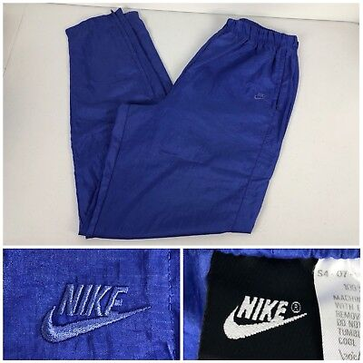 Nike Womens Large Pants Tapered Ankle Zip Vintage Emrboidered Logo 100% Nylon