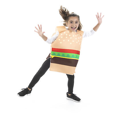Burger Costume For Kids (Cheesy Burger Halloween Children's Costume - Funny Food Suits for)