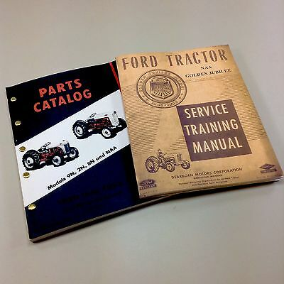 Lot Ford Naa Golden Jubilee Tractor Service Parts Manuals Repair Shop Catalog