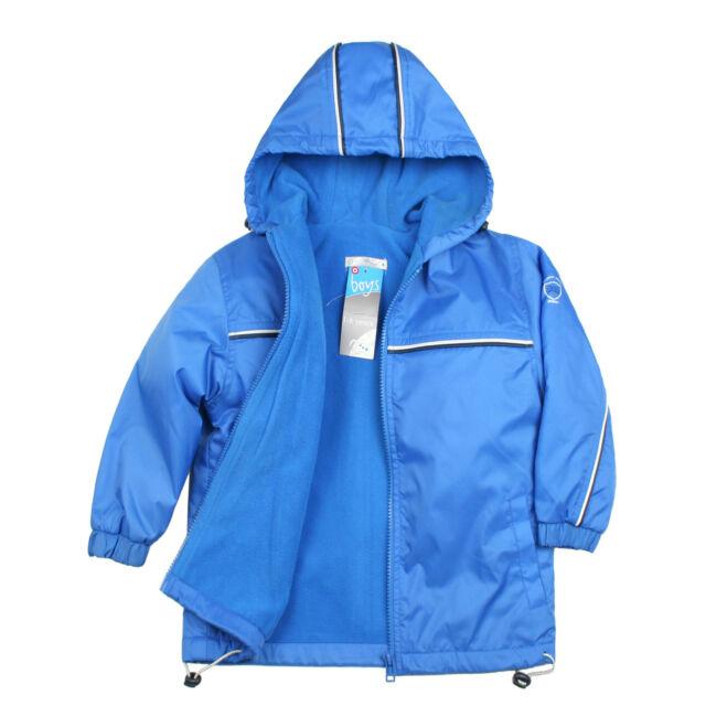 Baby Toddler Kid Child Boy Cozy Fleece Jacket Coat Hooded Blue 1-6 ...