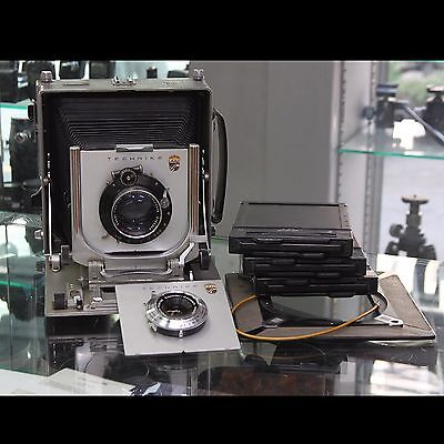 Linhof Technika IV 5x7/13x18 + Lens 120mm F5.6 + 210mm F4.5 + 4x5 Frame + Holder
