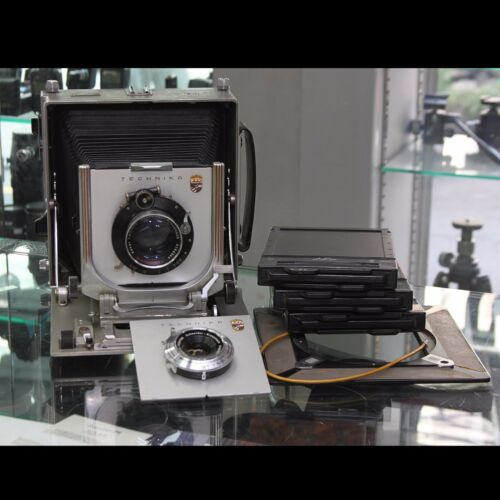Linhof Technika IV 5x7/13x18 + Lens 120mm F5.6 + 210mm F4.5 + 4x5 Frame + Holder