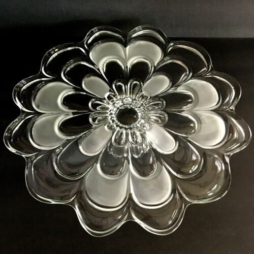 Flower Shaped Pressed Glass Cake Stand
