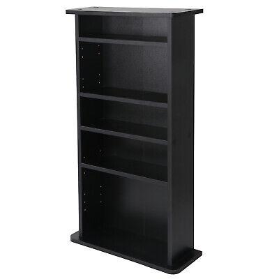 DVD Book Shelf Storage Cabinet CD Media Adjustable 5 Layers Customized Display