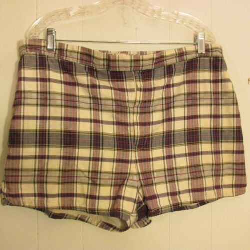 Vtg PURITAN SWIMWEAR SWIM TRUNKS SHORTS MADRAS 50