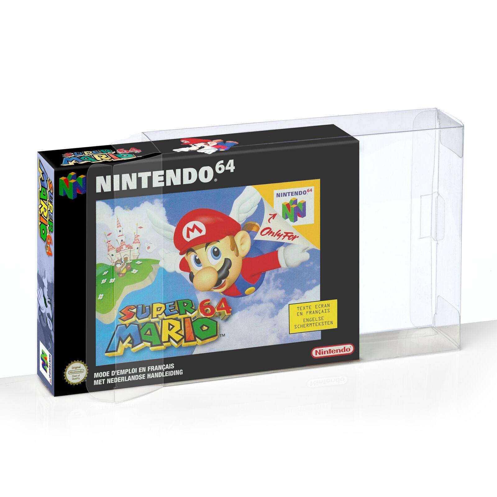 20 Klarsicht Schutzhüllen Nintendo 64 [20 x 0,3MM N64 OVP] Spiele Games