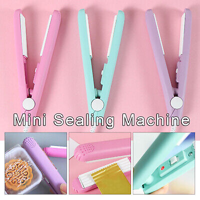 Portable Mini Plastic Heat Sealer Cutter Sealing Machine Handheld Food Poly Bag
