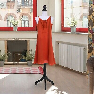 White Female Mannequin Torso Dress Clothes Tripod Stand Adjustable Display Rack