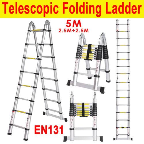 16.5ft Aluminum Telescopic Telescoping Loft Extension Collap