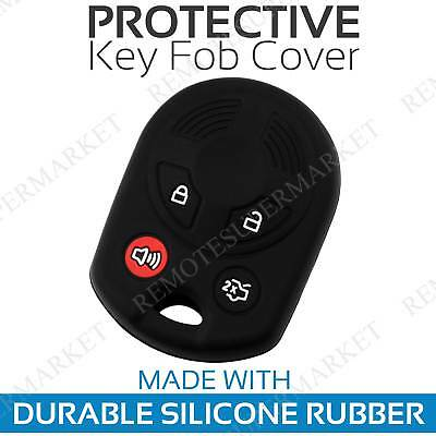 Key Fob Cover for 2013-2019 Ford C-Max Remote Case Rubber Skin Jacket