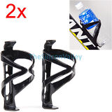 2pcs Cycling Bike Bicycle Drink Water Bottle Cup Holder Mount Cage Polycarbonate