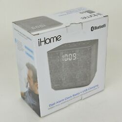 iHome Dual Alarm Clock Radio USB Charging Wireless Music Streaming SPEAKER Phone