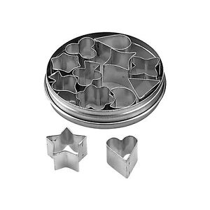Extra Mini Shapes Aspic Cookie Cutter Set of 12 20mm NEW