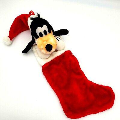 Disney GOOFY Plush Head Christmas Stocking