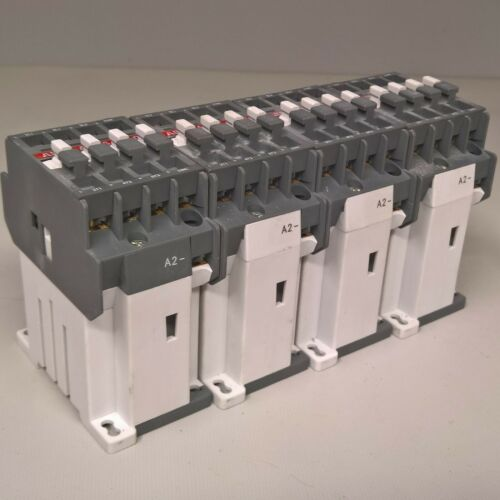 QTY (4) ABB AL16-30-01 CONTACTOR 110V DC 3 Pole 1 Built In Auxiliary Contact