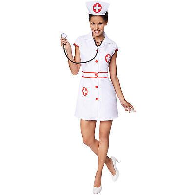 Frauenkostüm sexy Krankenschwester Halloween Karneval Fasching Damen (Halloween Krankenschwester Kostüm)