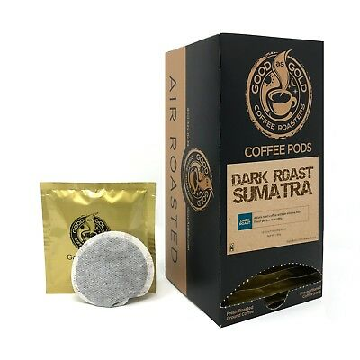 Good Gold Coffee - Good As Gold Sumatra Dark Roast Coffee Pods - Air Roasted - (18 Pods)