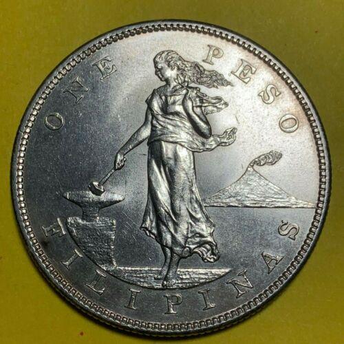 US PHILIPPINES ONE PESO 1904-P GEM UNC DETAILS #524