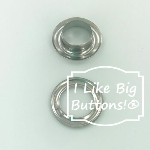 """10 mm / 3/8"""" - SILVER - KAM Metal Grommets/Eyelets with Washers - Leather Poster"""