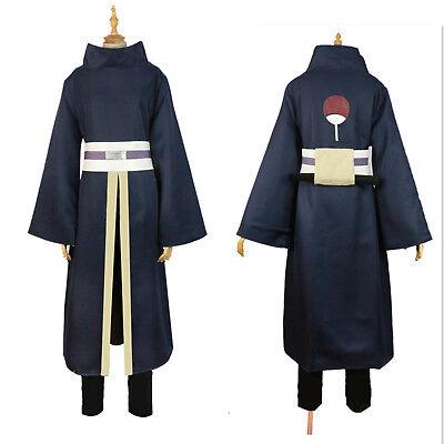 NARUTO Akatsuki Ninja Tobi Obito Madara Uchiha Obito Cosplay Costume+Helmet Mask - Naruto Costums