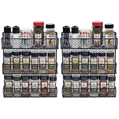 Wall Door Mounted Metal Sturdy Herb Spice Rack Pantry Kitchen Storage Organizer Home & Garden