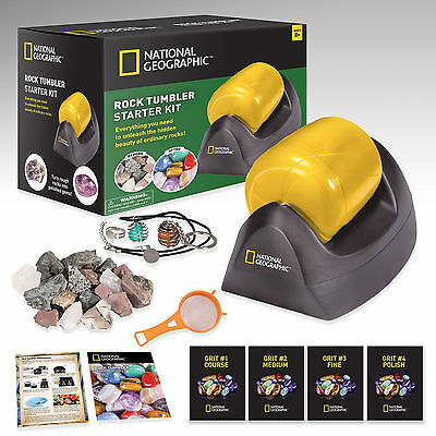 Rock Tumbler Science Kit Starter National Geographic Polish Grit Educational New