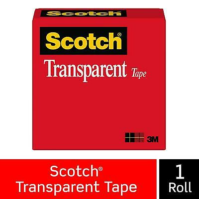 Scotch Transparent Tape Clear Finish Cuts Cleanly Engineered For Office And