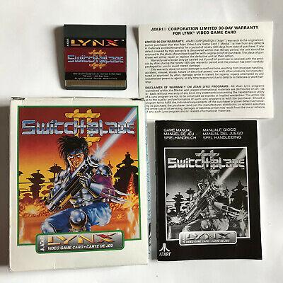 Switchblade II (2) / CIB / Atari Lynx Game