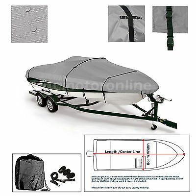Xpress XP16 Trailerable Fishing Bass Boat Cover grey