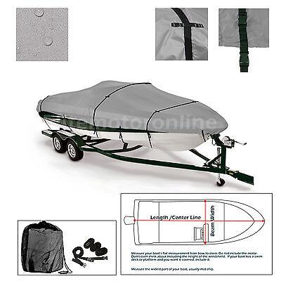 Xpress XP16 Trailerable Fishing Bass Boat Cover grey
