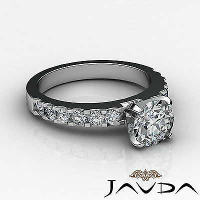 Shared Prong Round Natural Diamond Engagement Ring GIA Certified H SI1 1.47 Ct 2
