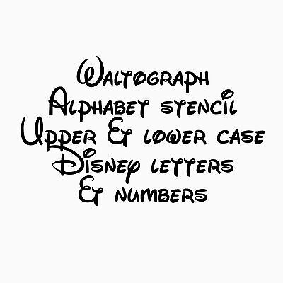 Disney Alphabet Stencil Numbers Waltograph Template Banner Paint Craft 1-2 CM