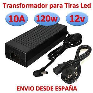 Transformador 12v dc 10a 120w tira led alimentador fuente for Transformador led 12v