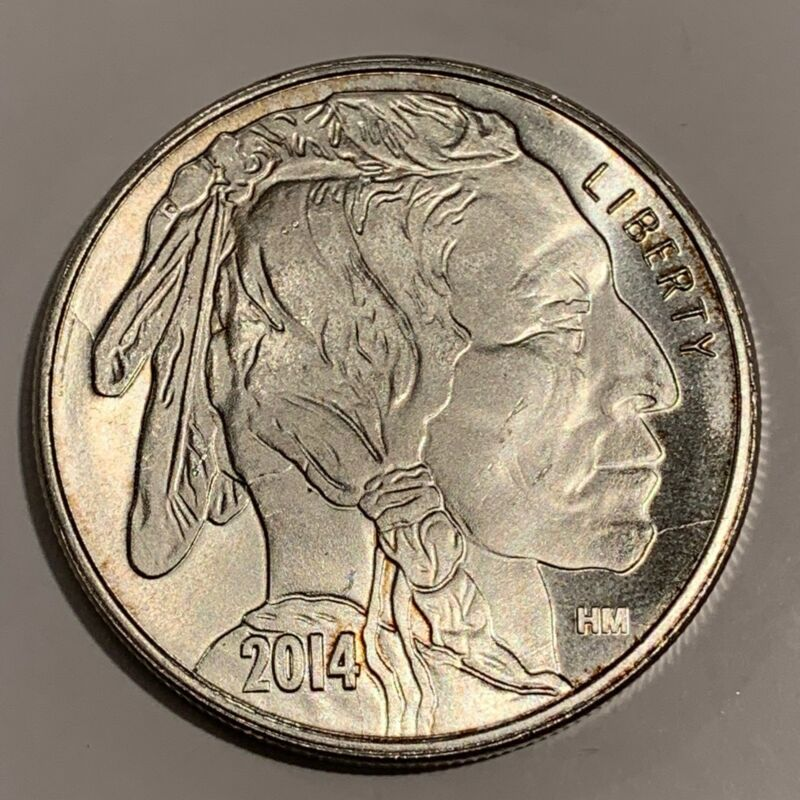 Liberty Indian Head Buffalo 2014 Usa Silver 1 Troy Oz 999