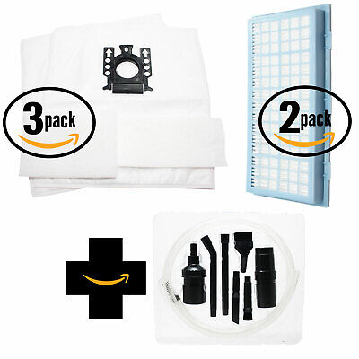 6 Vacuum Bags, 6 Micro & 2 HEPA Filters for Miele Delphi w/ Micro Kit