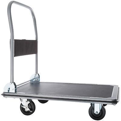 Chariot à plateforme chariot de manutention a transport pliable noir 300kg