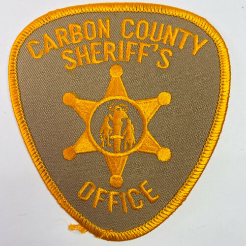Carbon County Sheriff Wyoming WY Patch A