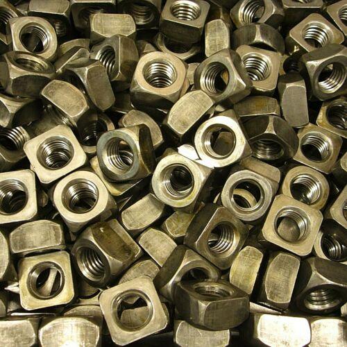 "(75) 5/8""-11 Regular Square Nut Coarse Thread Unplated Plain Finish Steel"