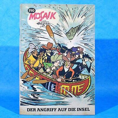 Mosaik 190 Digedags Hannes Hegen Originalheft | DDR | Sammlung original MZ 16