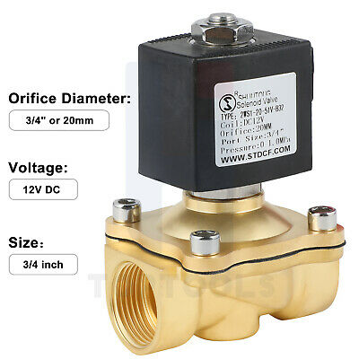 34in Viton Brass Electric Solenoid Valve Dc12v Normally Closed For Water Air Ga