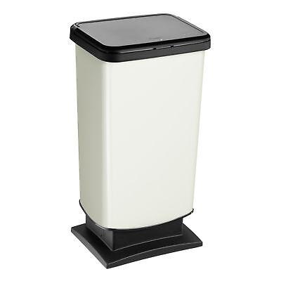 Rotho geruchsdichter Abfalleimer Mülleimer Push Funktion Recycling Paso 40 Liter
