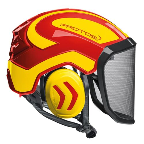 PROTOS HELMET RED + YELLOW Pfanner Protos Integral Arborist Helmet Climbing