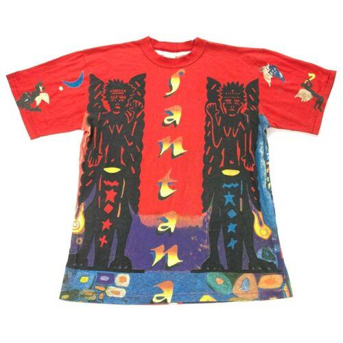 Vintage Santana T-Shirt 1993 Sacred Fire Tour South America RARE • One Size OS