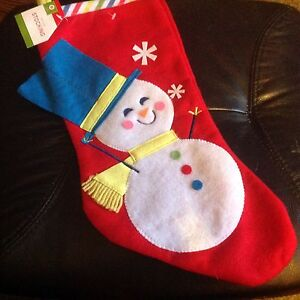 Snowman Christmas stocking. NEW. Nic's gifts Mount Waverley Monash Area Preview