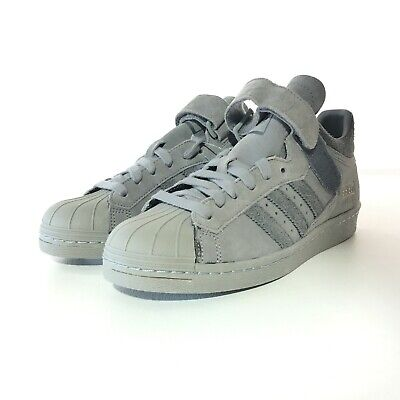 adidas Mens PRO SHELL 80s Sneakers Gray Suede Leather 7.5 E42