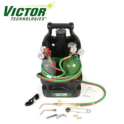 Victor Portable Tote Torch Set For Brazing Soldering With Cylinders 0384-0946