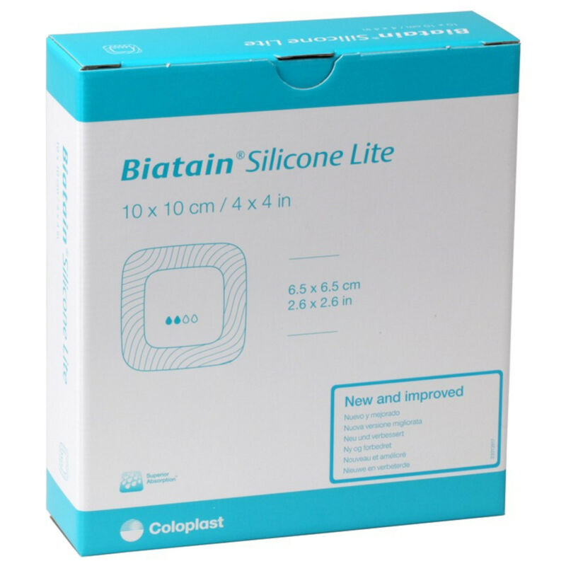 "Biatain Silicone Lite Foam Dressing 3"" x 3"" (Box of 10) # 33444"