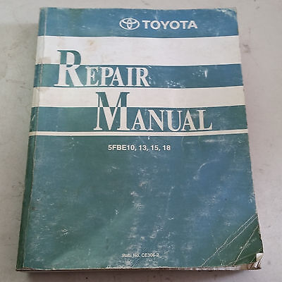 Toyota Electric Forklift 1999 Repair Manual Wwiring 5fbe10-13-15-18