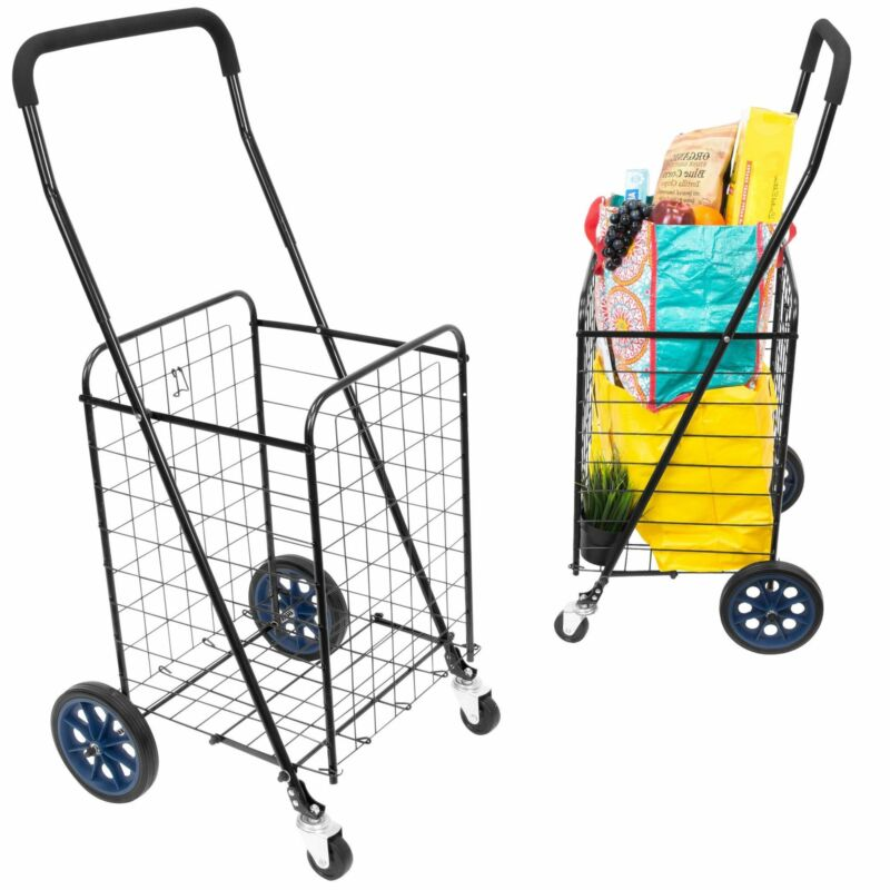 Mount-It! Small Rolling Utility Shopping Cart