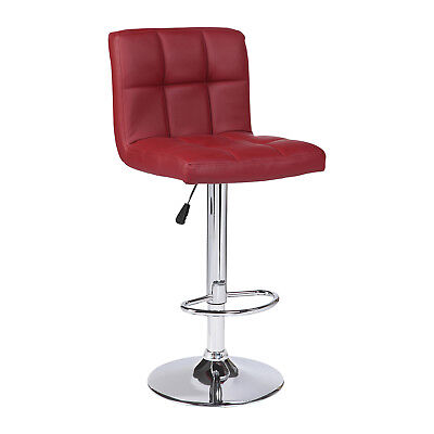 Kenwell 2PCS Bar Stools Leather Adjustable Swivel Pub Chair In Red ()